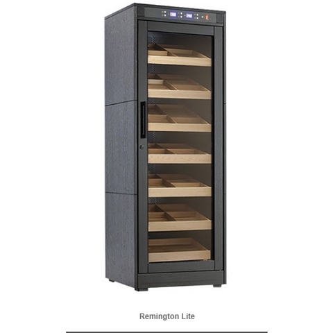 REMINGTON LITE 2000 Ct. Electric Climate/Humidity Controlled Cabinet (Black Oak)