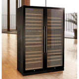 "Allavino 47"" Wide FlexCount II Tru-Vino 349 Bottle Three Zone Black Side-by-Side Wine Refrigerator (3Z-VSWR7772-B20)"