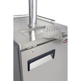 "Kegco 24"" Wide Triple Tap All Stainless Steel Commercial Kegerator (XCK-1S-3)"