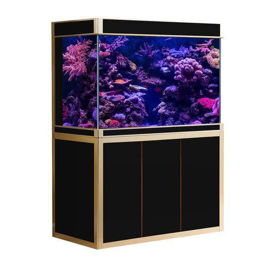 Aquadream Black & Gold 175 Gallon Aquarium Fish Tank (JAL-1560-BK)