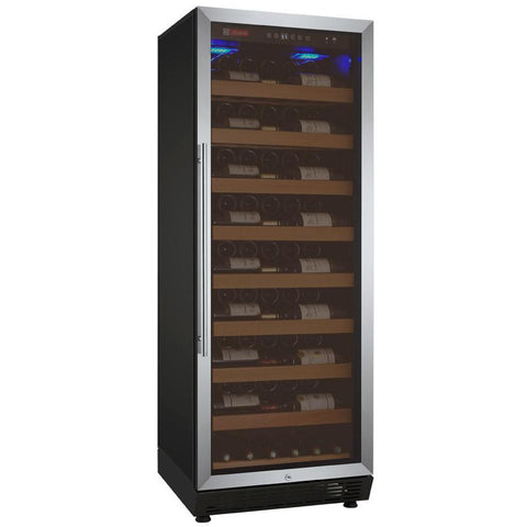 "Allavino 24"" Wide Vite II Tru-Vino 99 Bottle Single Zone Stainless Steel Right Hinge Wine Refrigerator (YHWR115-1SR20)"