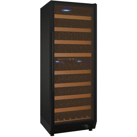 "Allavino 24"" Wide Vite II Tru-Vino 99 Bottle Dual Zone Black Right Hinge Wine Refrigerator (YHWR99-2BR20)"