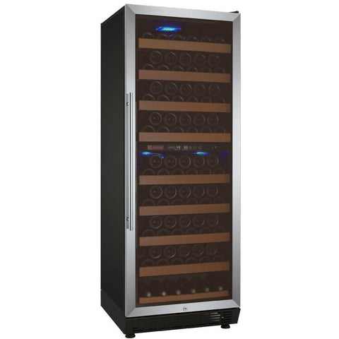 "Allavino 24"" Wide Vite II Tru-Vino 99 Bottle Dual Zone Stainless Steel Right Hinge Wine Refrigerator (YHWR99-2SR20)"