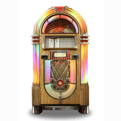 Rock-Ola Bubbler CD Jukebox in Light Oak Finish (J-70389-A)