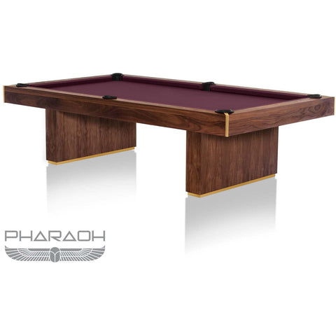 Pharaoh USA Huntsman Billiards Table - American Walnut & Burgundy (HUNBI-D-WCBY)