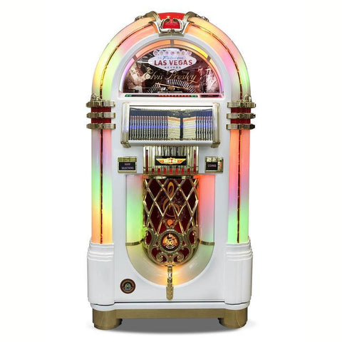 Rock-Ola Elvis Bubbler CD Jukebox in White Finish (J-70419-A)