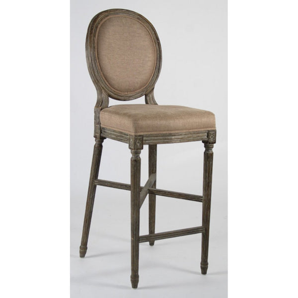 Zentique Copper & Charcoal Pack of 4 Medallion Barstool (FC011-35 Bar E271 A006-4)