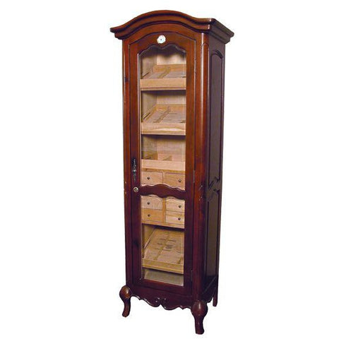 Quality Importers 3000 Ct. French Walnut Antique Style Humidor Cigar Tower (HUM-2000-ANTIQUE)