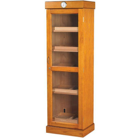 Quality Importers 3000 Ct. Oak Humidor Cigar Tower Shelf Unit (HUM-2000-SHELF)