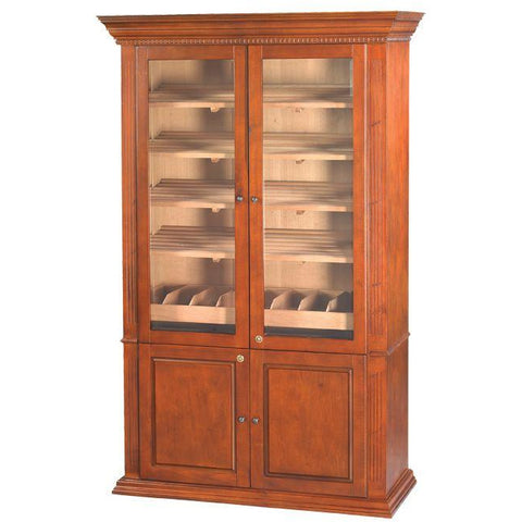 Quality Importers 5000 Ct. Antique Distressed Walnut Commercial Humidor Cigar Cabinet (HUM-5000)