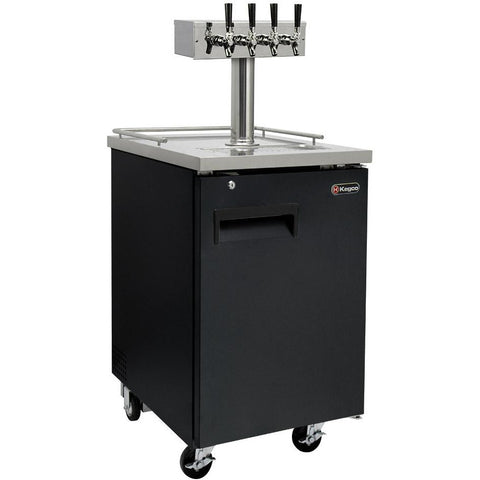 "Kegco 24"" Wide Cold Brew Coffee Four Tap Black Commercial Kegerator (ICXCK-1B-4)"