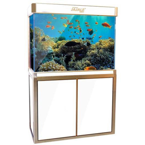 Aquadream White 100 Gallon Fish Tank (JAL-1061-WHT)