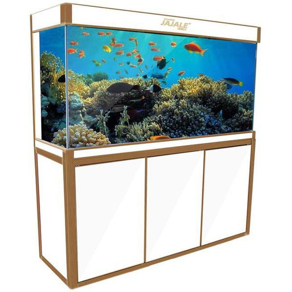 Aquadream White 175 Gallon Aquarium Fish Tank (JAL-1560-WT)
