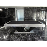 Pharaoh USA Luxor Billiards Table - Silver & Black (LUXBI-D-SBLK)