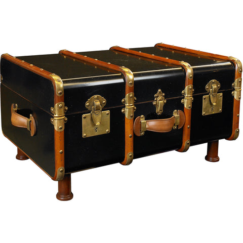 Authentic Models Black Stateroom Trunk Table (MF040B)