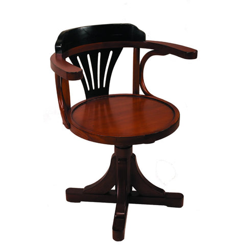 Authentic Models Black & Honey Purser's Chair (MF081)