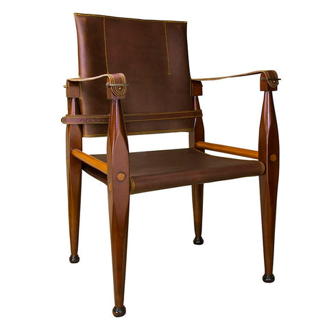 Authentic Models Bridle Leather Campaign Chair (MF122)