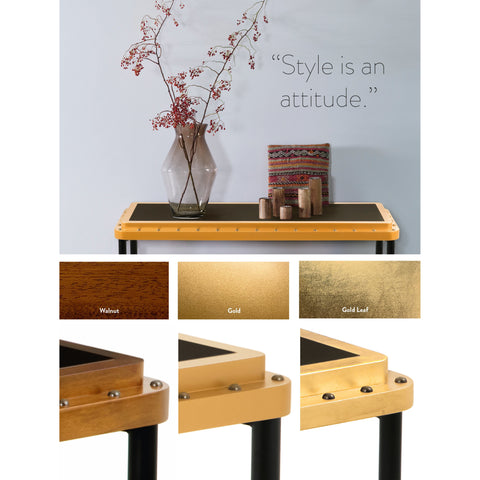 Authentic Models M Gold Leaf ACE Side Table (MF168GL)