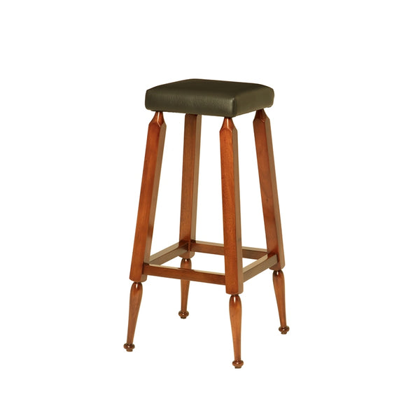 Authentic Models Pack of 4 Black Mayan High Barstool (MF172)