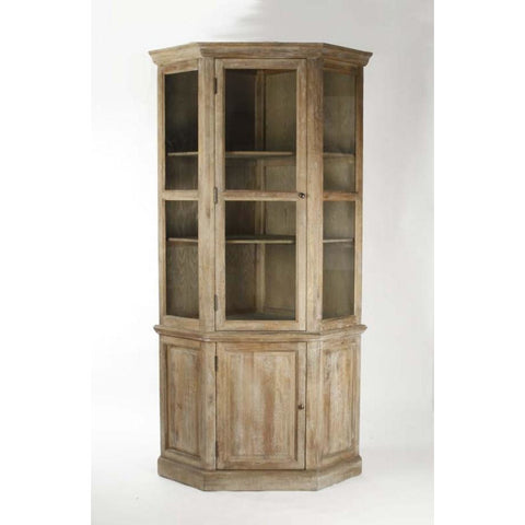 Zentique Edgar Limed Grey Oak China Cabinet (T116 E272)