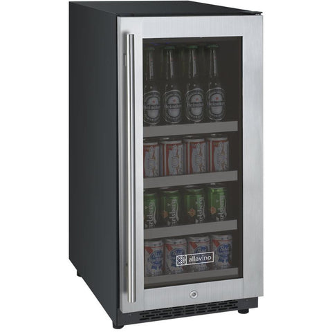 "Allavino 15"" Wide FlexCount II Tru-Vino Stainless Steel Right Hinge Beverage Center (VSBC15-SR20)"