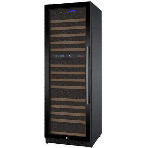 "Allavino 24"" Wide FlexCount II Tru-Vino 172 Bottle Dual Zone Black Left Hinge Wine Refrigerator (VSWR172-2BL20)"