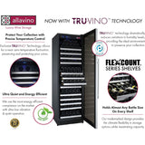 "Allavino 47"" Wide FlexCount II Tru-Vino 354 Bottle Dual Zone Stainless Steel Side-by-Side Wine Refrigerator (2X-VSWR177-1S20)"