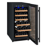 "Allavino 15"" Wide FlexCount II Tru-Vino 30 Bottle Single Zone Black Wine Refrigerator (VSWR30-1BR20)"