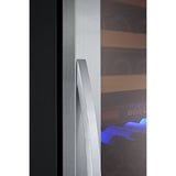 "Allavino 24"" Wide FlexCount Classic II Tru-Vino 174 Bottle Single Zone Stainless Steel Right Hinge Wine Refrigerator (YHWR174-1SR20)"
