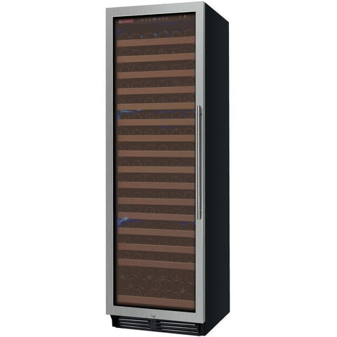 "Allavino 24"" Wide FlexCount Classic II Tru-Vino 174 Bottle Single Zone Stainless Steel Left Hinge Wine Refrigerator (YHWR174-1SL20)"