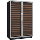 "Allavino 48"" Wide FlexCount Classic II Tru-Vino 348 Bottle Dual Zone Stainless Steel Side-by-Side Wine Refrigerator (2X-YHWR174-1S20)"
