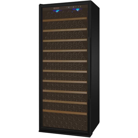 "Allavino 32"" Wide Vite II Tru-Vino 277 Bottle Single Zone Black Left Hinge Wine Refrigerator (YHWR305-1BL20)"