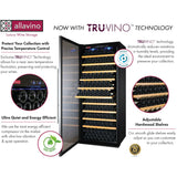 "Allavino 32"" Wide Vite II Tru-Vino 277 Bottle Single Zone Stainless Steel Left Hinge Wine Refrigerator (YHWR305-1SL20)"