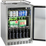 "Kegco 24"" Wide Single All Stainless Steel Outdoor Built-In Left Hinge Kegerator with Kit (HK38SSU-L-1)"