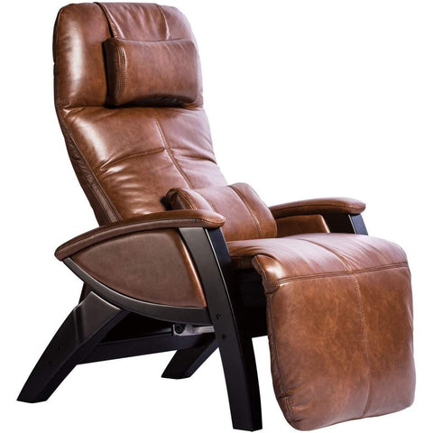Svago ZGR Plus Cognac/ Black Wood Zero Gravity Recliner (SV395-86-BL)