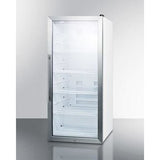 "Summit Appliance 22"" Wide/ 48"" Tall Stainless Steel Trimmed Glass Beverage Center (SCR1006)"