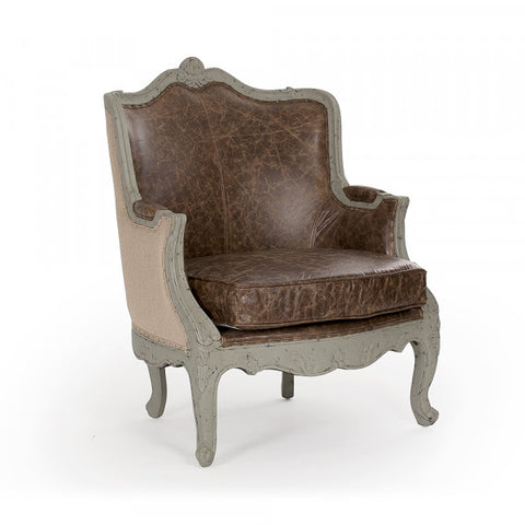 Zentique Adele Club Chair (CFH198 432 CP035 Jute)