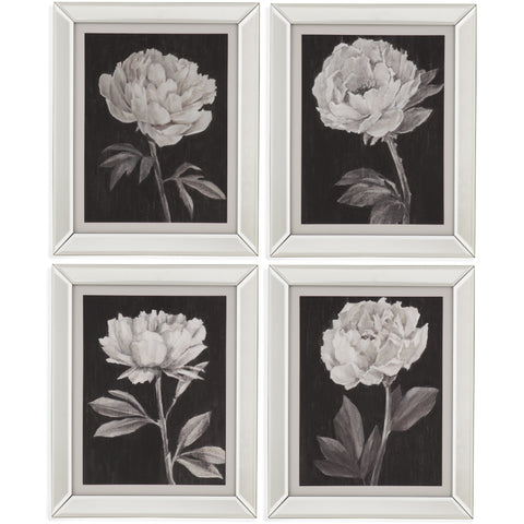 BMC 4 PC Black and White Flowers (9901-542-000)
