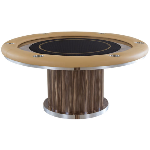 Pharaoh USA Cleopatra Round Poker Table - Brown/Beige/Black (ECLRP-D-BBB-5)