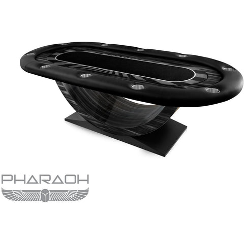 Pharaoh USA Eclipse Texas Hold'Em Poker Table - Black (ECLHP-D-BLK)