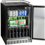 "Kegco 24"" Wide Triple Tap Stainless Steel Built-In Right Hinge Kegerator with Kit (HK38BSU-3)"