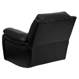 LeatherSoft Black Rocker Recliner (MEN-DA3439-91-BK-GG)