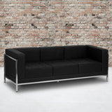 HERCULES Imagination Series Contemporary Melrose Black LeatherSoft Sofa with Encasing Frame (ZB-IMAG-SOFA-GG)