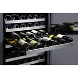 "Allavino 24"" Wide FlexCount II Tru-Vino 121 Bottle Dual Zone Stainless Steel Right Hinge Wine Refrigerator (VSWR121-2SR20)"