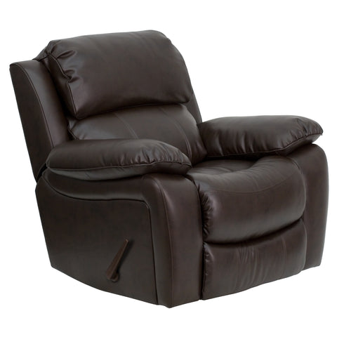 LeatherSoft Brown Rocker Recliner (MEN-DA3439-91-BRN-GG)