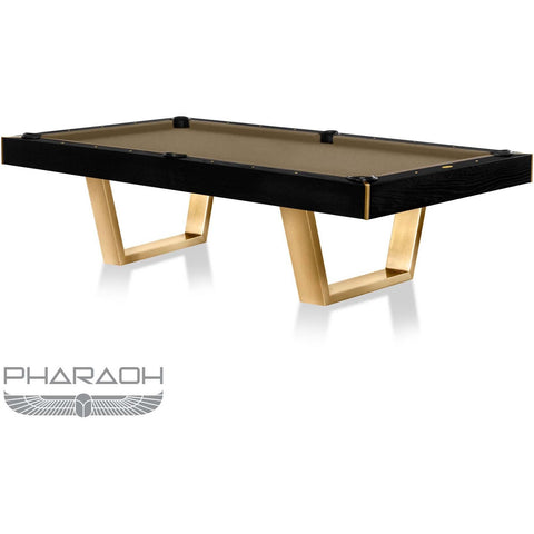 Pharaoh USA Galaxy Billiards Table - Piano Black & Khaki Brown (GALBI-D-BB)