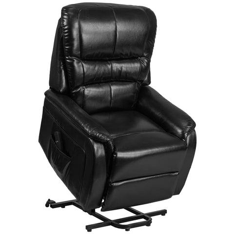 HERCULES Series Black LeatherSoft Remote Powered Lift Recliner (CH-US-153062L-BK-LEA-GG)