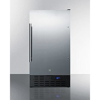 "Summit Appliance 18"" Wide/ 34"" Tall 8 lb. Drain-Free Icemaker (BIM18SS)"