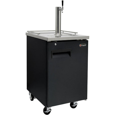"Kegco 24"" Wide Kombucha Single Tap Black Commercial Kegerator (KOMC1B-1)"