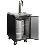 "Kegco 24"" Wide Cold Brew Coffee Triple Tap Black Commercial Kegerator (ICXCK-1B-3)"